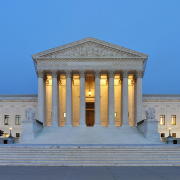us supreme court building at dusk, Joe Ravi, CC BY-SA 3.0 <https://creativecommons.org/licenses/by-sa/3.0>, via Wikimedia Commons