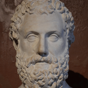 bust of Aeschylus, Carole Raddato from FRANKFURT, Germany, CC BY-SA 2.0 <https://creativecommons.org/licenses/by-sa/2.0>, via Wikimedia Commons