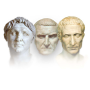 busts of the first triumvirate of the roman republic, Mary Harrsch, CC BY-SA 4.0 <https://creativecommons.org/licenses/by-sa/4.0>, via Wikimedia Commons
