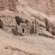 entrance of the tomb of senenmut in egypt, Edal Anton Lefterov, CC BY-SA 3.0 <https://creativecommons.org/licenses/by-sa/3.0>, via Wikimedia Commons