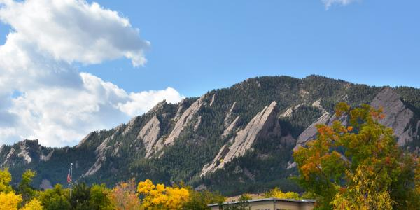 Flatirons in fall