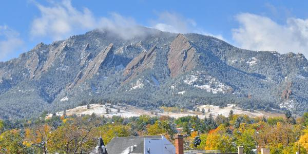 Flatirons with snow