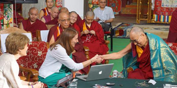 Sona Dimidjian and Dalai Lama