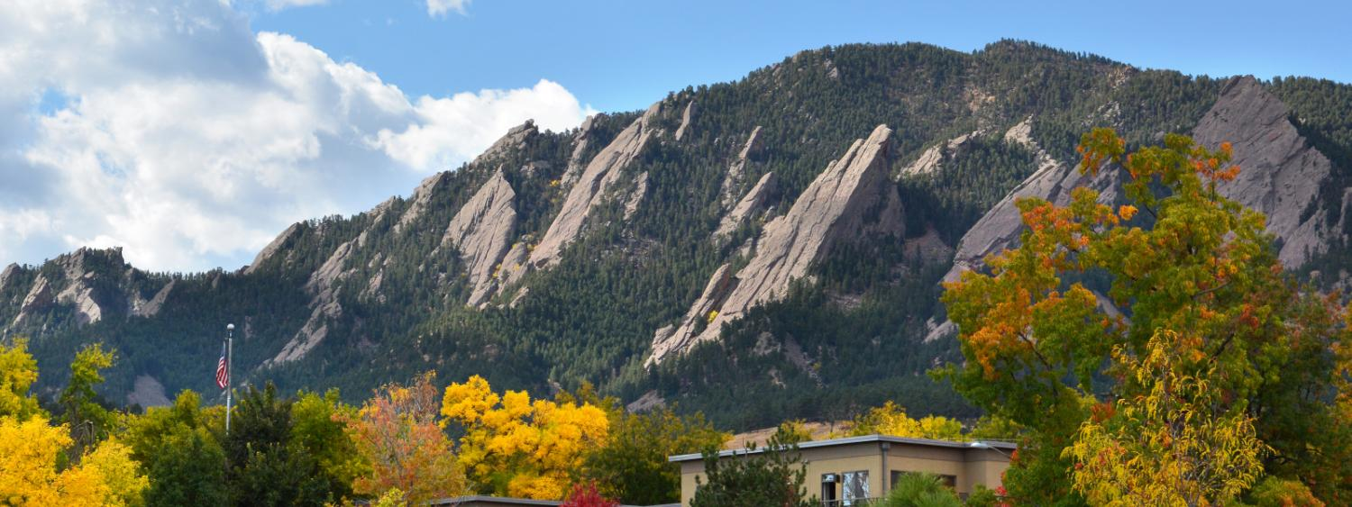 Flatirons in the fall