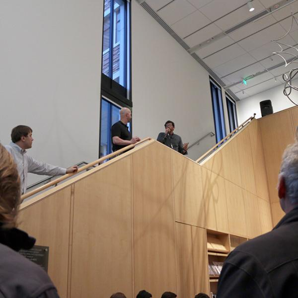 Organizers address students