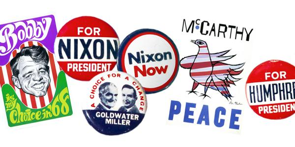 Old election pins