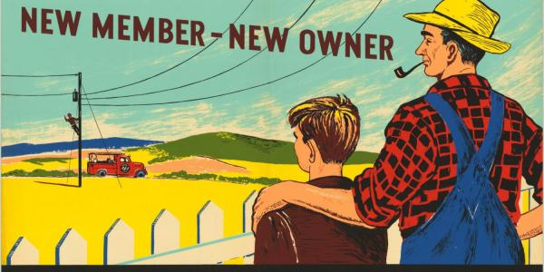 A 1940s-era U.S. Department of Agriculture poster touts co-ops. In 2018, they're making a comeback.