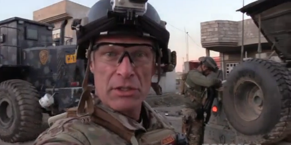 Mitch Utterback reporting from a troop column in Iraq