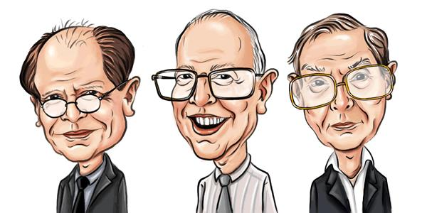 Dr. Maxwell McCombs, Dr. Donald Shaw and Dr. David Weaver.