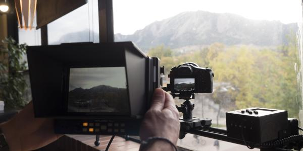 Filming the flatiron mountains