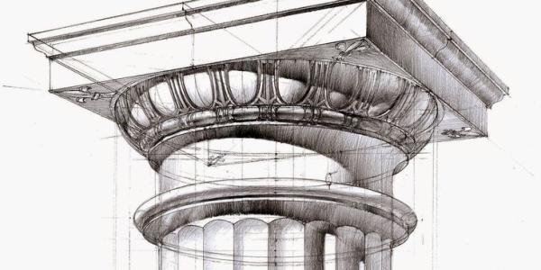 A doric column.