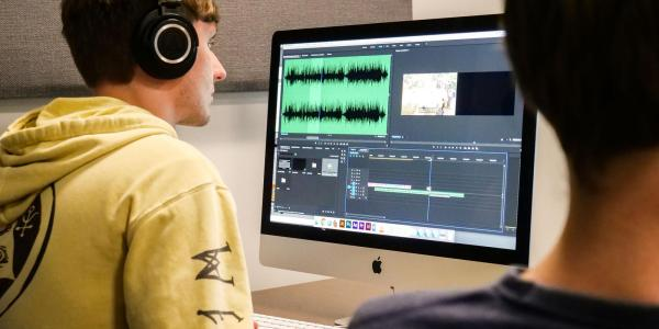 Students and computer audio program