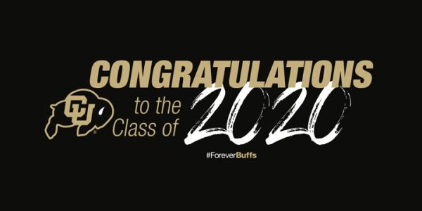 image with text 'congratulations to the class of 2020'