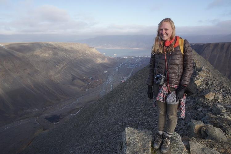 Kelsey Ray in Svalbard