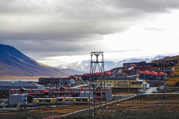 The Svalbard capitol city of Longyearbyen