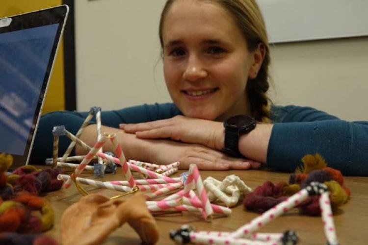 INFO student presenting