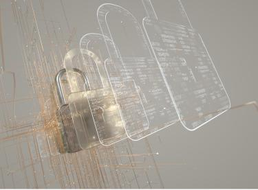 An image of a padlock being digitized.