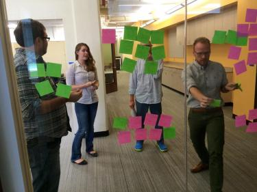 Jed and post-it notes