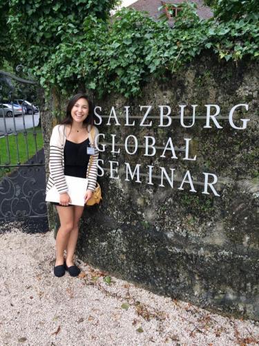 During her undergraduate studies abroad, Quon was an intern at Salzburg Global Seminar.