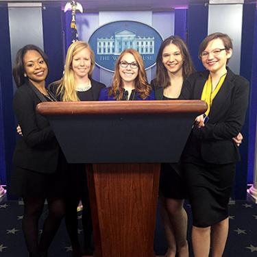 WMI Students in the White House