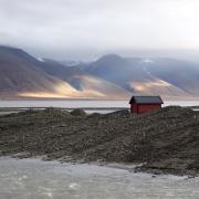 A cabin on the Svalbard coast
