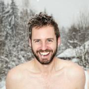 Scott Carney in the snow