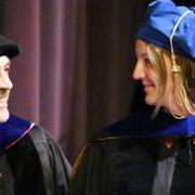PhD student graduating