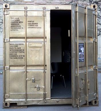 An external view of the portal.