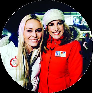 Cheryl Preheim and Lindsay Vonn