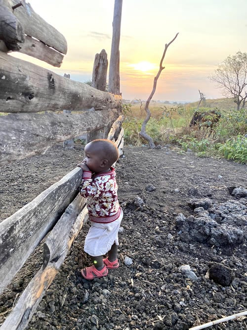 Mollel uses her Instagram, @angelmollel1, to share images that capture the people and culture of Tanzania. She photographed this Maasai child during her trip in the summer of 2020.