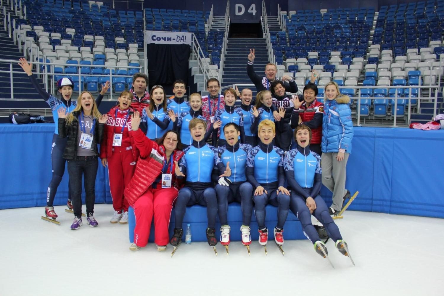 Before covering the games for the Olympic Channel, Journalism Instructor Marina Dmukhovskaya previously served as the Russian Skating Union's media manager.