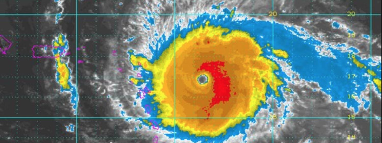 Hurricane radar image