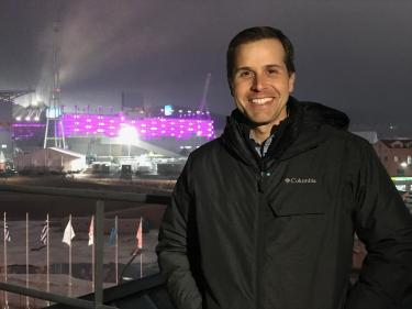 Our Pyeongchang offices had a unbeatable view overlooking the Olympic Stadium.  This is the spot where we did many of our TV standups for ABC News affiliates across the country.