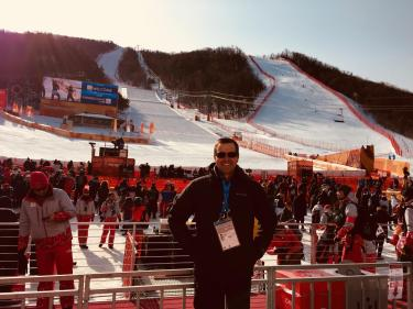 When time allowed our team would head out to catch an event or two.  On this day we were able to watch the Giant Slalom.