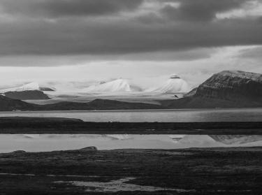 The wild landscape around Ny-Älesund.