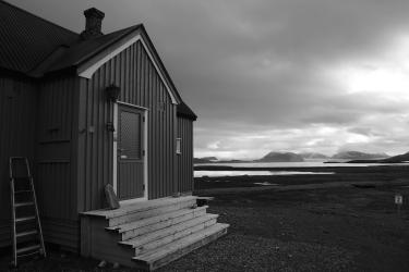 One of the cottages that scientists call home during when they stay at Ny-Älesund.
