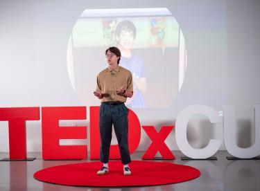 A TEDxCU presenter.
