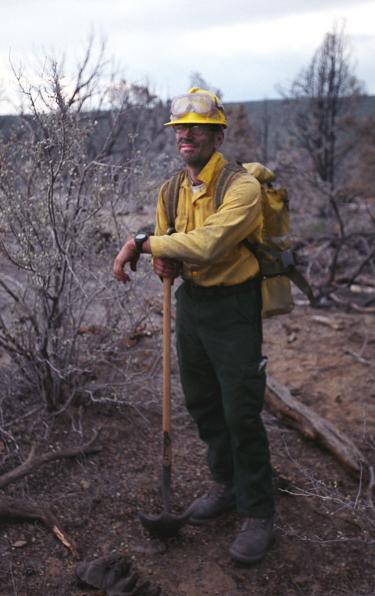 Kodas on site while serving on a seasonal wildfire crew in Colorado in 2003.