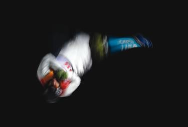 AP photographer Greg Bull (Jour'91) has covered multiple Olympic Games––including the 2018 Winter Games when he photographed Australian aerial/freestyle skier David Morris––and has returned to Tokyo to photograph events including gymnastics.