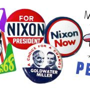 Vintage political pins