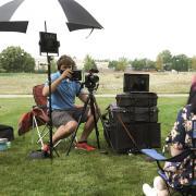 Pat Clark filming