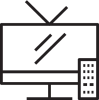 TV with remote illustration