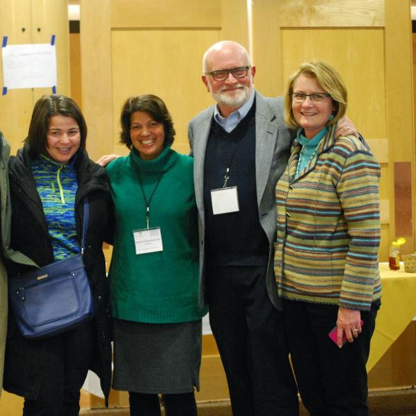 Center Director Stewart Hoover and conference participants