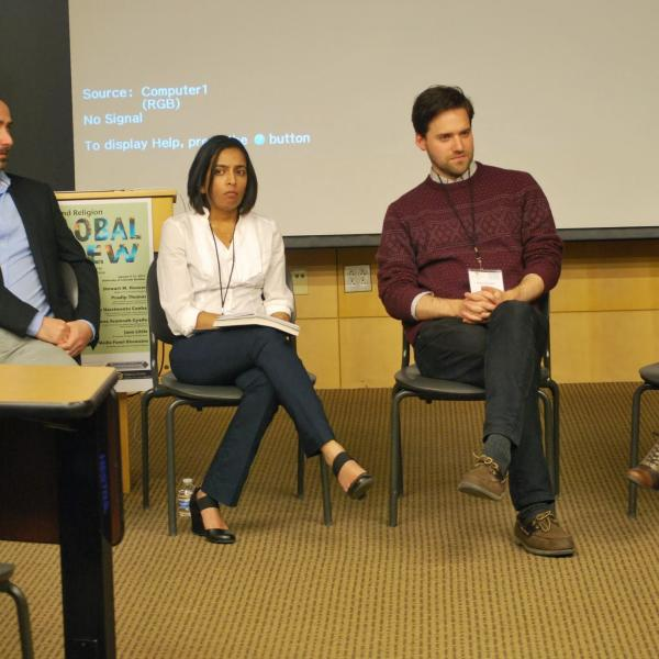 A panel of presenters at the Global View conference