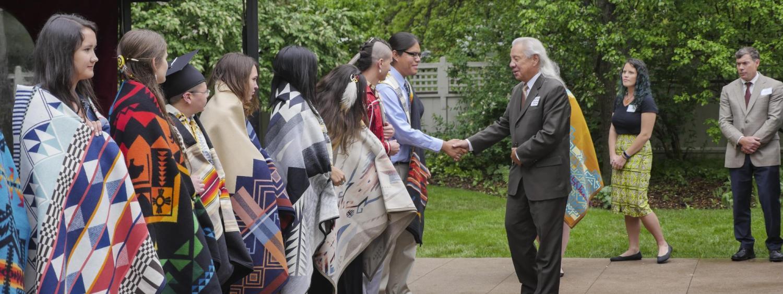 John Echohawk Honoring CNAIS 2018 Graduates