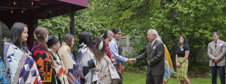 John Echohawk and 2018 Native Grads