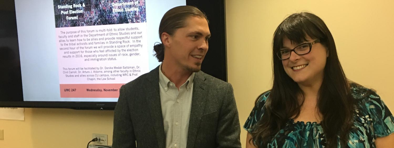 Clint Carroll and Danika Medak Saltzman