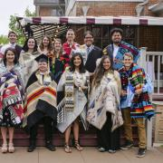 Native Grads with blankets 2018 CNAIS