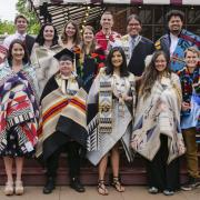 2018 Native Grads with blankets