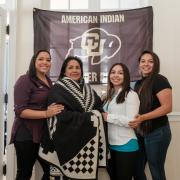 Ime Salazar and daughters at 2017 Native Grad